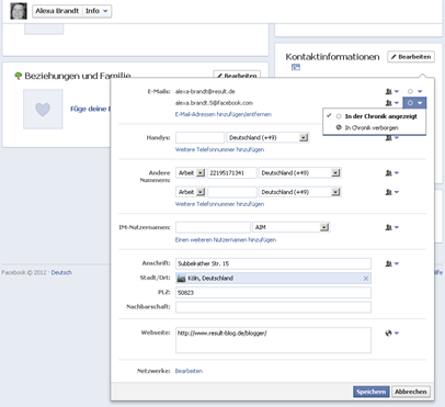 Facebook ändert eigenmächtig primäre e mail kontaktadresse das