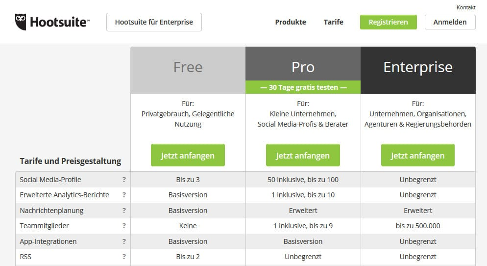 Pricing-Hootsuite