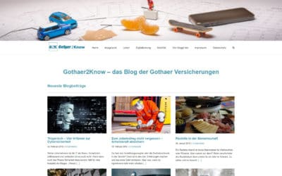 Screenshot Gothaer Versicherung Corporate Blog