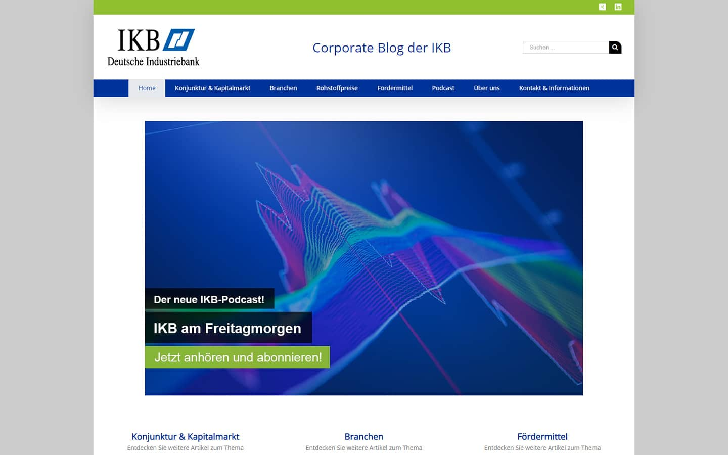 Screenshot IKB Deutsche Industriebank AG Corporate Blog
