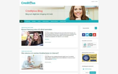 Creditplus Bank Screenshot Corporate Blog