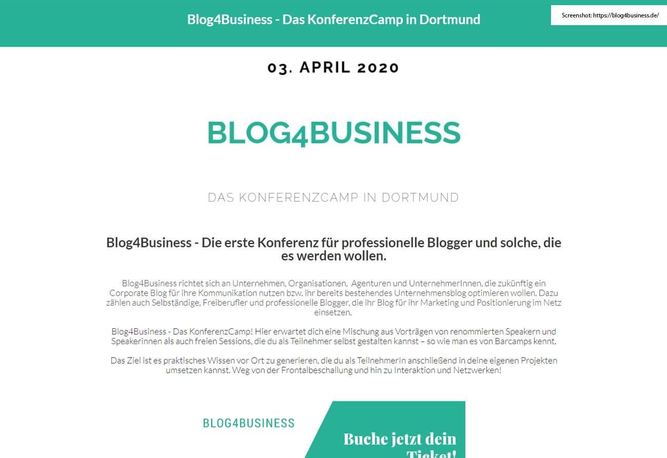 Blog4Business – Das Konferenzcamp in Dortmund